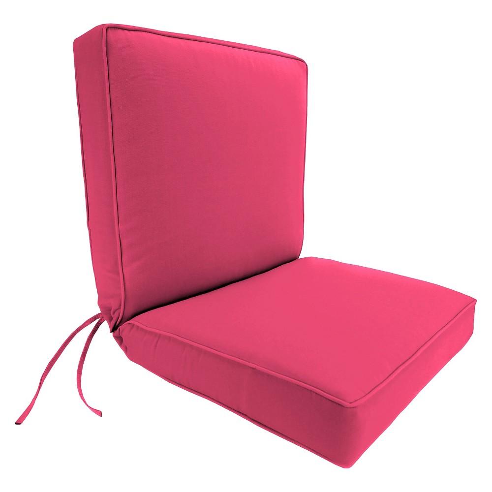 Jordan Boxed Edge Chair Cushion - Hot Pink