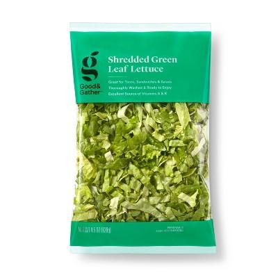 Shredded Green Leaf Lettuce - 4.5oz - Good & Gather™