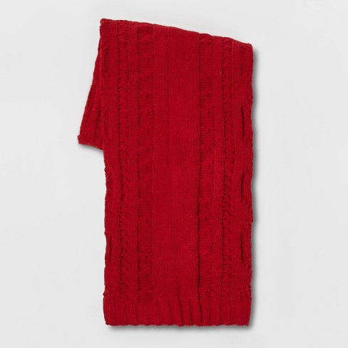 Cable Knit Chenille Throw - Threshold™ - image 1 of 2