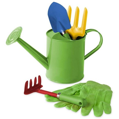 Grow With Me Watering Can And Garden Tools For Kids Hearthsong Target