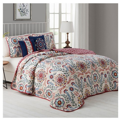 Multicolor Valena Quilt Set (King) 5pc - image 1 of 1