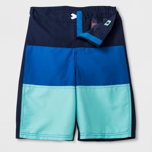 427a733678573 Boys' Adaptive Adjustable Swim Trunks - Cat & Jack™ Blue : Target