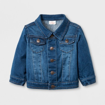 Baby Jean Jacket - Cat & Jack™ Denim Wash 18M