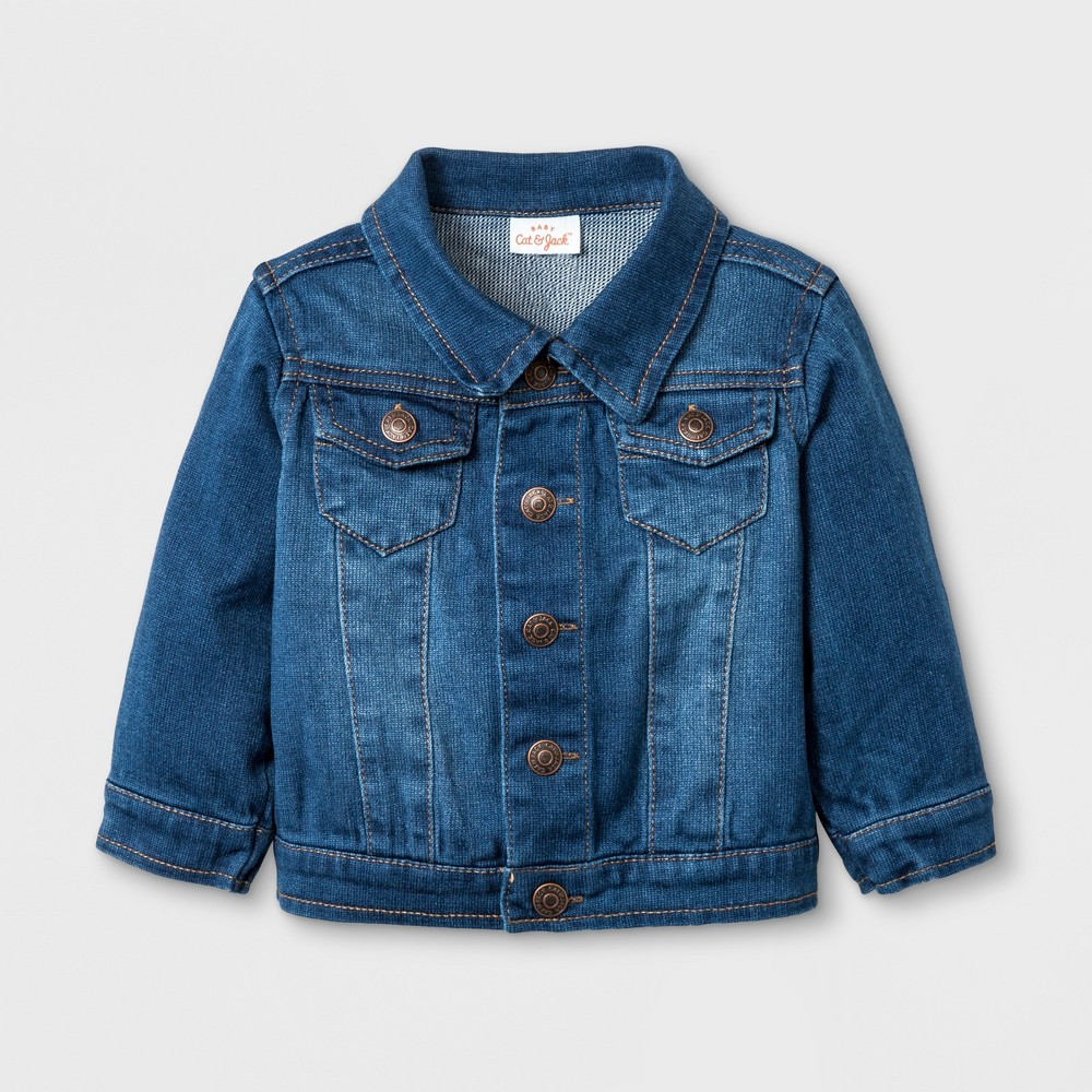 Baby Girls' Jean Jacket - Cat & Jack Denim Wash 24M, Blue