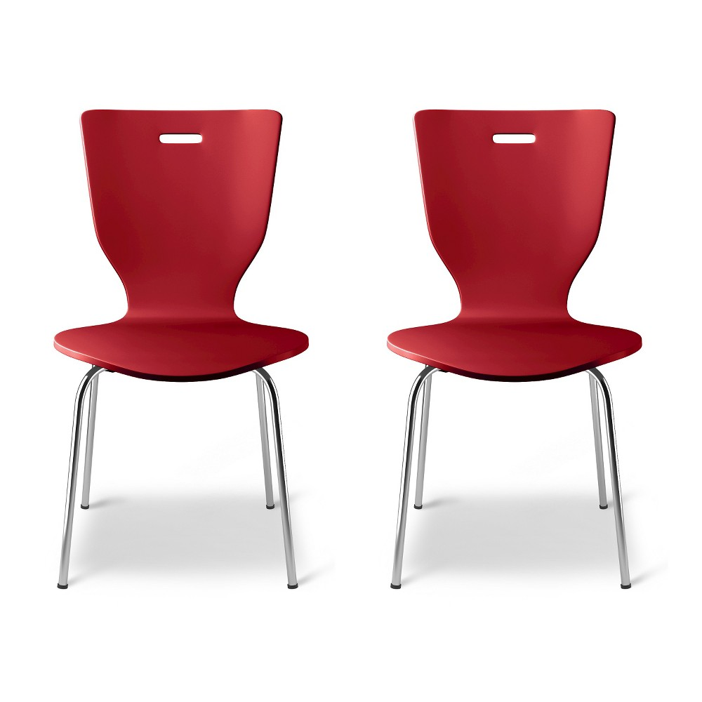 Scoop Kids Activity Chair - Stoplight Red (Set of 2) - Pillowfort