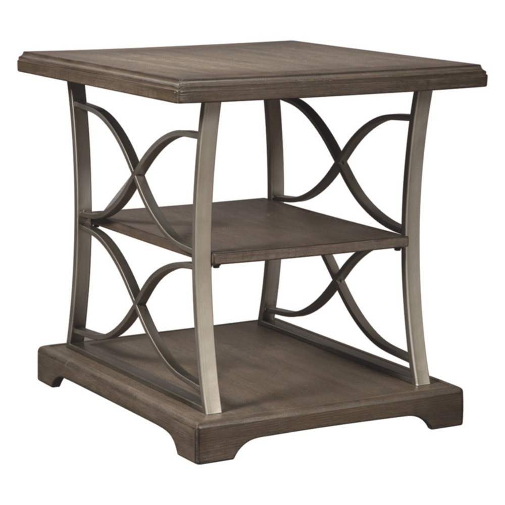 Baymore Rectangular End Table Taupe - Signature Design by Ashley