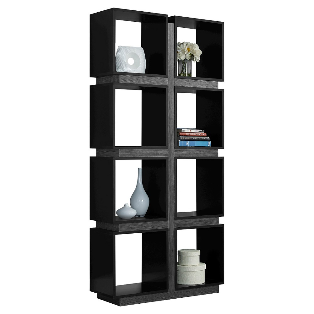 71 Hollow Core Bookcase - Black/Gray - EveryRoom