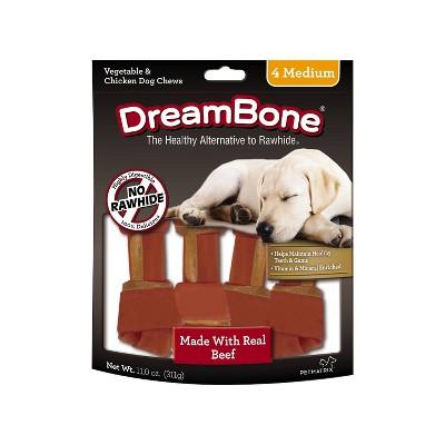 DreamBone Beef Medium Bones Dry Dog Treats - 4ct