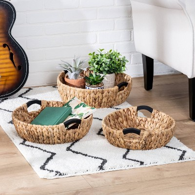 Honey-Can-Do 3pc Round Natural Baskets