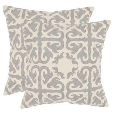 Light Gray Moroccan Throw Pillows - 2 Pack - (22 x22 )- Safavieh®