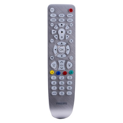 Philips 6 Device Elite Backlit Remote Control - Brushed Silver