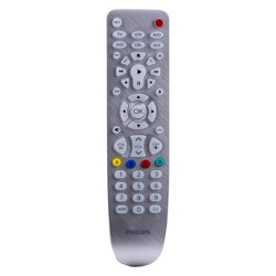 Philips 6 Device Elite Backlit Remote Control - Brushed Silver