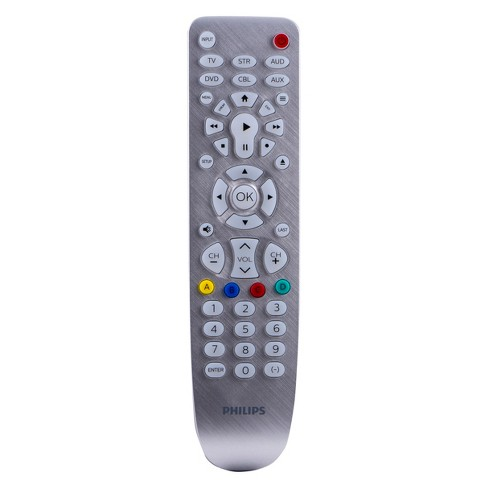 Philips 6 Device Elite Backlit Remote Control - Brushed Silver - image 1 of 4