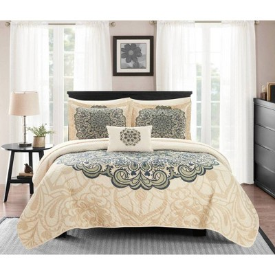 Chic Home Design Elmaz Quilt & Sham Set