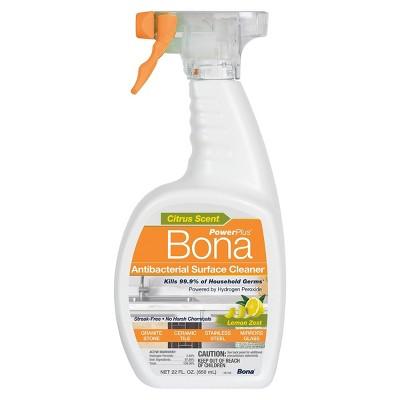 Bona PowerPlus Antibacterial All Purpose Cleaner Spray - Lemon Zest - 22 fl oz