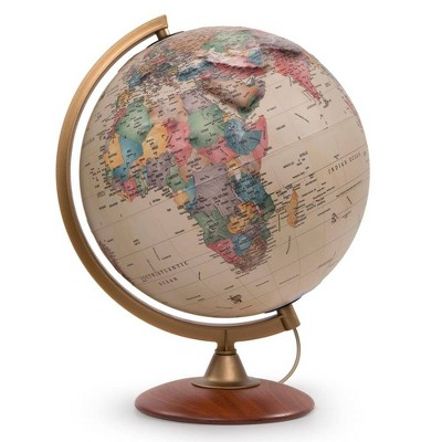 Colombo Antique Physical Relief Globe - Waypoint Geographic