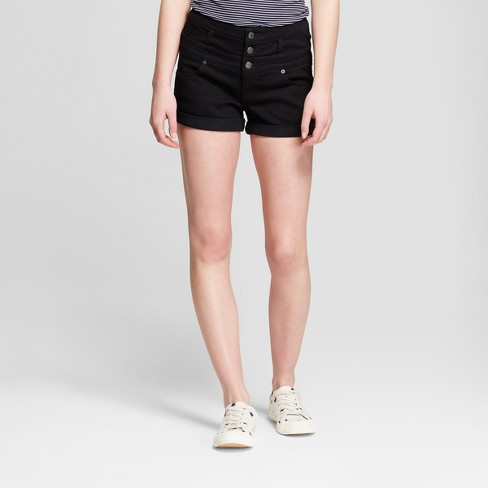 Women's High-Rise Triple Stack Jeans Shorts -Mossimo Supply Co.™ Black - image 1 of 2