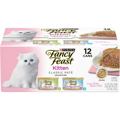 Purina Fancy Feast Classic Paté Gourmet Wet Cat Food Collection Kitten - 3oz/12ct Variety Pack