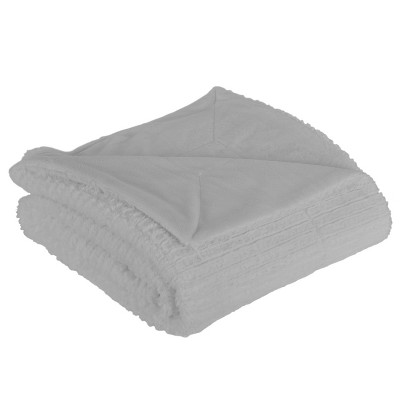 Barnes Faux Throw Blanket Gray - Décor Therapy