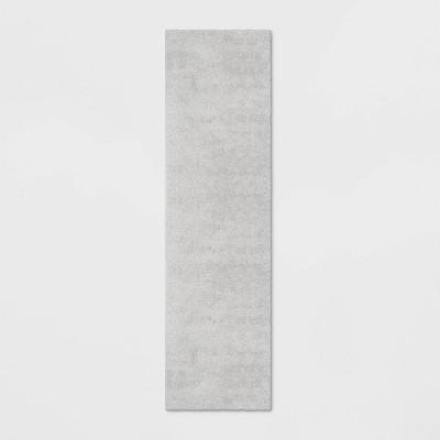 2'x7' Solid Eyelash Woven Shag Runner Rug Cream - Project 62™
