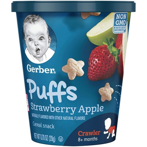 Gerber Puffs Snack Cups, Strawberry Apple - 0.7oz - image 1 of 4