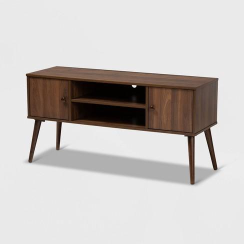 50'' Alard 2 Door Wood TV Stand Walnut - Baxton Studio - image 1 of 4