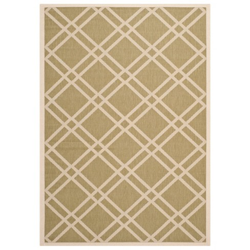 Lourdes Patio Rug - Green / Beige - Safavieh® - image 1 of 1