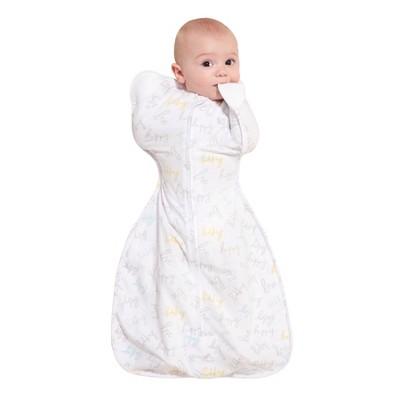 HALO Innovations SleepSack Self-Soothing Swaddle - Happy Baby Love NB