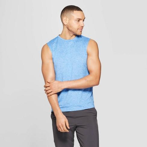 f8f813ea Men's Sleeveless Tech T-Shirt - C9 Champion® Blue Jay Heather M : Target