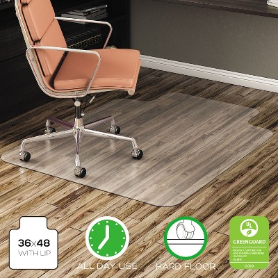 3'x4' Rectangle Solid Office Chair Mat Clear - Deflecto