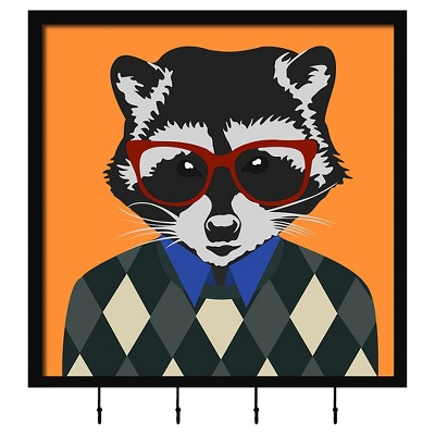 """15.25"""" x 15.25"""" Hipster Raccoon Single Picture Frame Brown - PTM Images"""