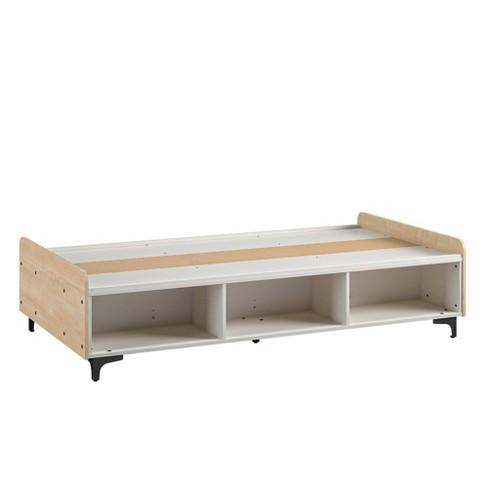 Twin Bianca Platform Bed White - Room & Joy - image 1 of 4