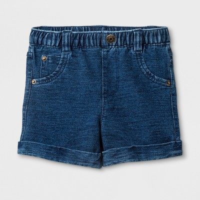 Baby Boys' Denim Shorts - Cat & Jack™ Dark Wash 3-6M
