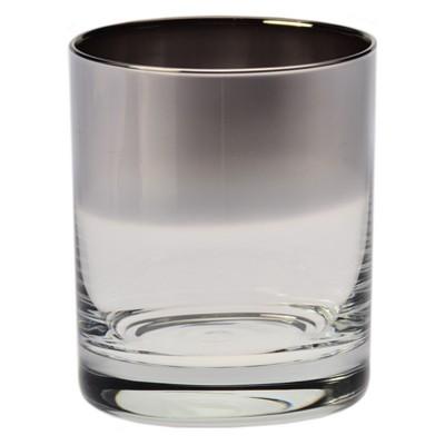 d7e2db7ae29f Krosno 10oz Ombre Double Old-Fashioned Glass Silver