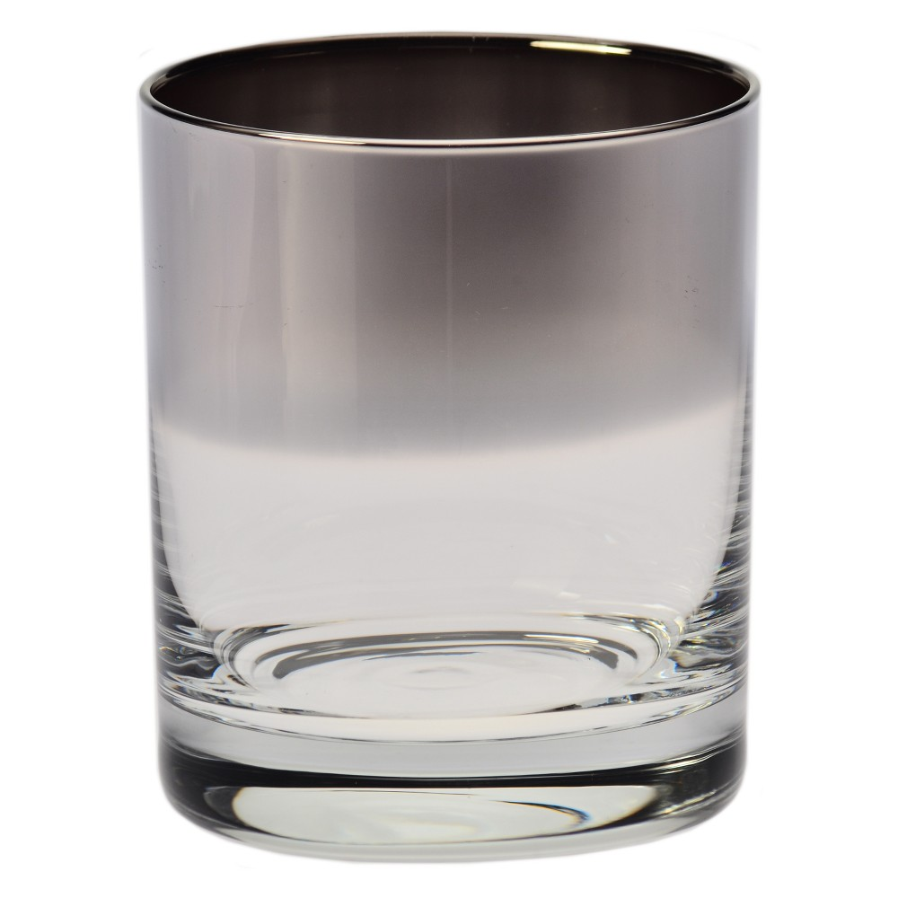 Image of Krosno 10oz Ombre Double Old-Fashioned Glass Silver