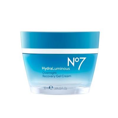 No7 HydraLuminous Overnight Recovery Gel Cream - 1.69 fl oz