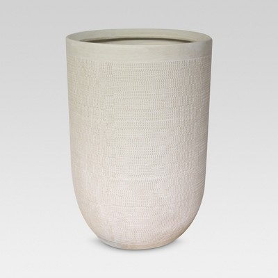 18  Textured Ceramic Planter - White - Threshold™