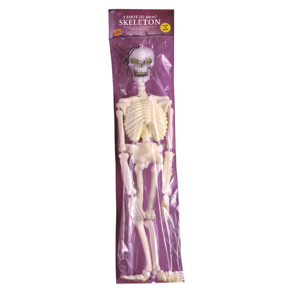 Image of 36 Halloween Glow in the Dark Skeleton, Clear