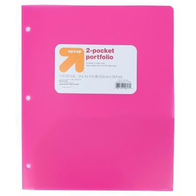 2 Pocket Plastic Folder Pink - up & up™
