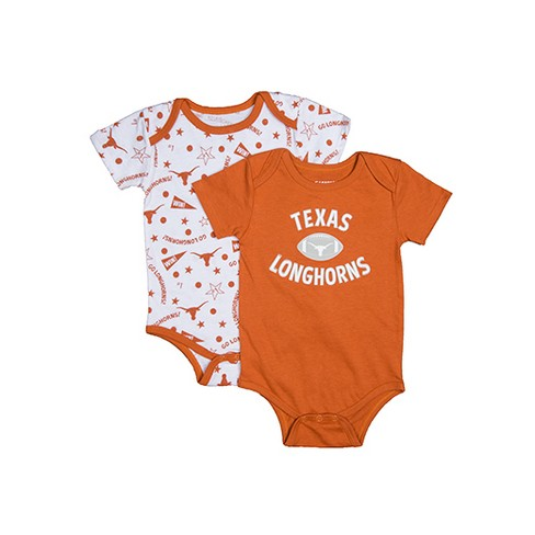 NCAA Texas Longhorns Baby Sigler 2pk Bodysuits - 9M - image 1 of 1