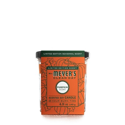 Mrs. Meyers Pumpkin Scented Soy Candle - 4.9oz