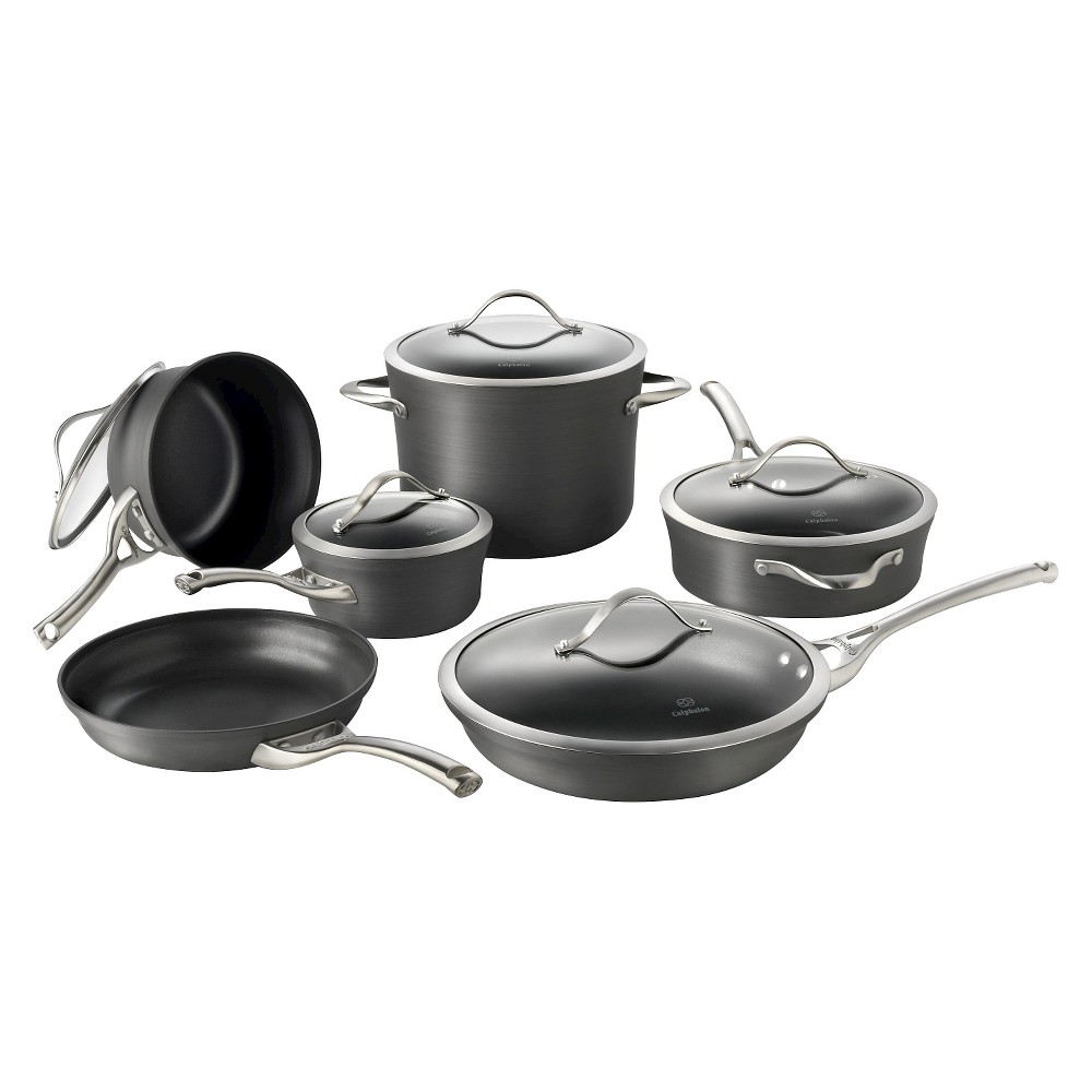 Calphalon 1876787 Contemporary 11 Piece Non-stick Dishwasher Safe Cookware Set, Gray
