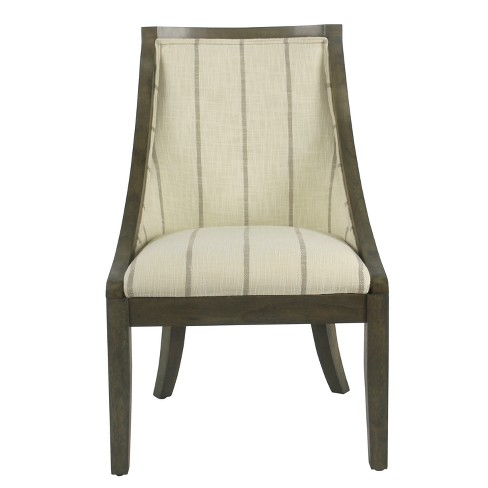 Industrial Dining Chair Wicker Grey - Homepop - image 1 of 8