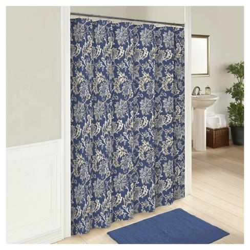 Coventry Shower Curtain Blue - Marble Hill® - image 1 of 1
