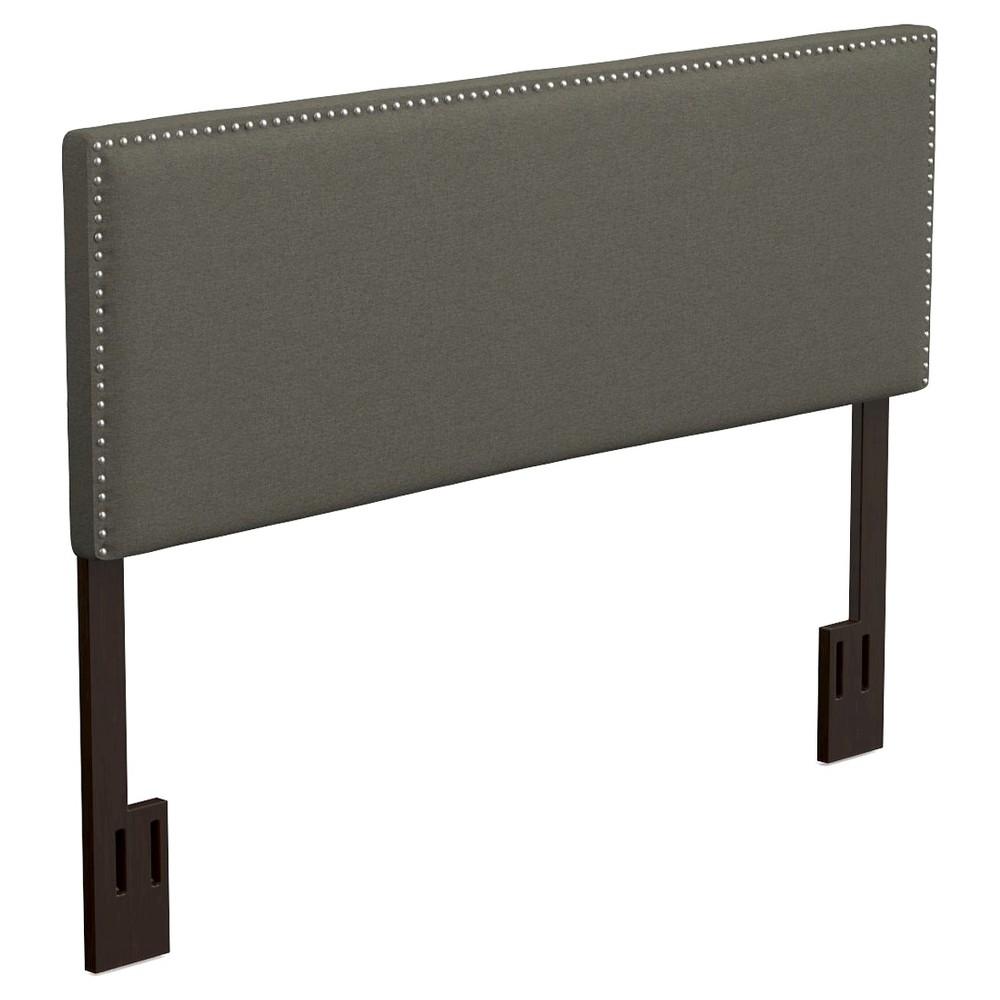 Image of Adine Upholstered Linen Headboard - Basil Green (King/CalKing), Size: California King
