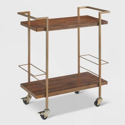 Maxwell Bar Cart Gold - Finch