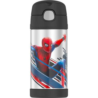 Thermos Spider-Man 12oz FUNtainer Water Bottle - Black
