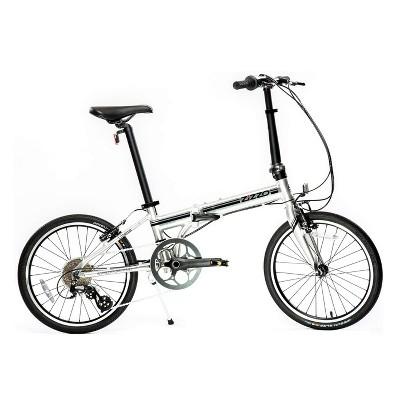 "ZiZZO Liberte 8-Speed Aluminum 20"" Folding Bike - Silver Black"