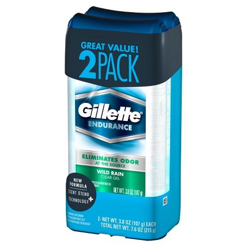 Gillette Wild Rain Clear Gel Men's Antiperspirant & Deodorant Twin Pack - 3.8oz - image 1 of 5