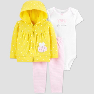 Baby Girls' Bumble Bee Top & Bottom Set - Just One You® made by carter's Yellow 6M